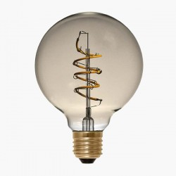 Segula Design Line 4W 2200K Dimmable E27 Golden Globe 95 LED Bulb with Curved Spiral Filament
