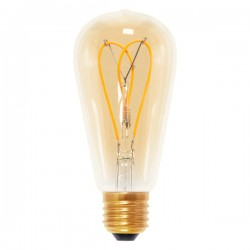 Segula Design Line 4W 2000K Dimmable E27 Golden Rustica LED Bulb with Curved Loop Filament