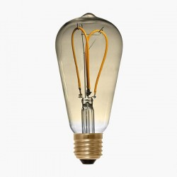 Segula Design Line 4W 2200K Dimmable E27 Golden Rustica LED Bulb with Curved Loop Filament