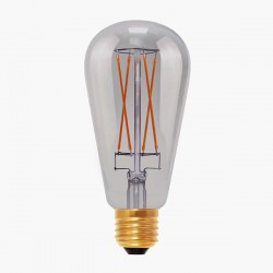 Segula Design Line 6W 2000K Dimmable E27 Smokey Grey Rustica LED Bulb