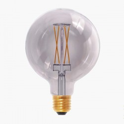 Segula Design Line 6W 2000K Dimmable E27 Smokey Grey Globe 125 LED Bulb