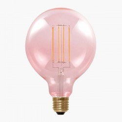 Segula Design Line 6W 2000K Dimmable E27 Smokey Pink Globe 125 LED Bulb