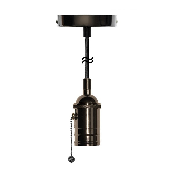 Segula xtra line black atlanta pull switch pendant with black segula xtra line black atlanta pull switch pendant with black textile cable mozeypictures Image collections
