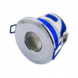 Ovia Inceptor Omni 7W Tricolour Dimmable Chrome Fixed LED Downlight