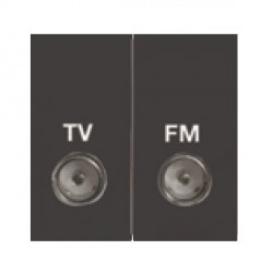Hamilton EuroFix 50X25mm Modular TVFM Isolated Black with Black Insert