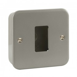 Click Metal Clad GridPro 1 Gang Front Plate and Back Box