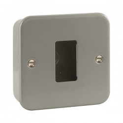 Click Metal Clad GridPro 1 Gang Front Plate and Back Box (No Knockouts)