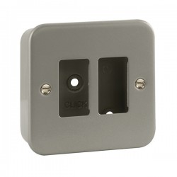 Click Metal Clad GridPro 2 Gang Front Plate and Back Box