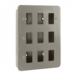 Click Metal Clad GridPro 9 Gang Front Plate and Back Box