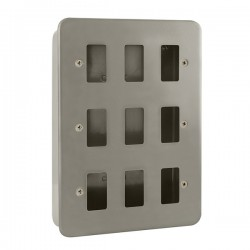 Click Metal Clad GridPro 9 Gang Front Plate and Back Box (No Knockouts)