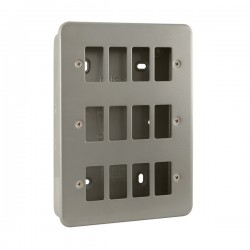 Click Metal Clad GridPro 12 Gang Front Plate and Back Box