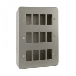 Click Metal Clad GridPro 12 Gang Front Plate and Back Box (No Knockouts)