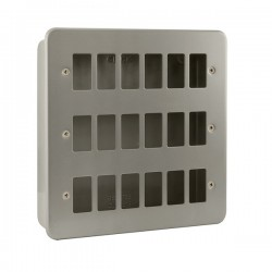 Click Metal Clad GridPro 18 Gang Front Plate and Back Box (No Knockouts)