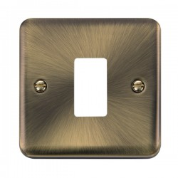 Click Deco Plus GridPro Antique Brass 1 Gang Front Plate