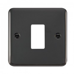 Click Deco Plus GridPro Black Nickel 1 Gang Front Plate