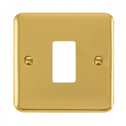 Click Deco Plus GridPro Polished Brass 1 Gang Front Plate