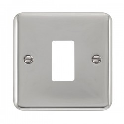 Click Deco Plus GridPro Polished Chrome 1 Gang Front Plate
