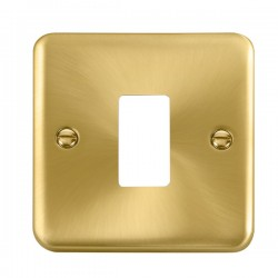 Click Deco Plus GridPro Satin Brass 1 Gang Front Plate