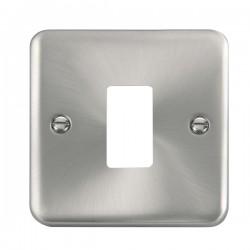 Click Deco Plus GridPro Satin Chrome 1 Gang Front Plate