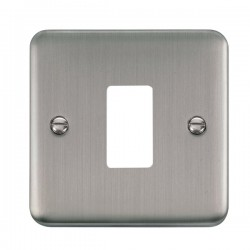 Click Deco Plus GridPro Stainless Steel 1 Gang Front Plate