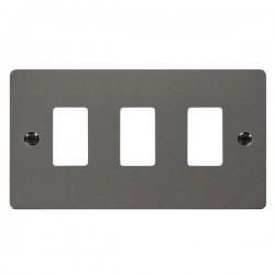 Click Define GridPro Black Nickel 3 Gang Front Plate