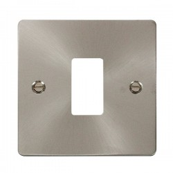 Click Define GridPro Brushed Stainless 1 Gang Front Plate