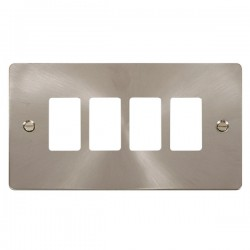 Click Define GridPro Brushed Stainless 4 Gang Front Plate