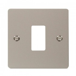 Click Define GridPro Pearl Nickel 1 Gang Front Plate