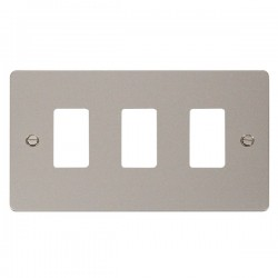 Click Define GridPro Pearl Nickel 3 Gang Front Plate