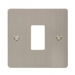 Click Define GridPro Stainless Steel 1 Gang Front Plate