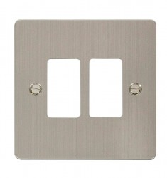 Click Define GridPro Stainless Steel 2 Gang Front Plate