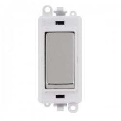 Click GridPro Polished Chrome 20AX 1 Way Switch Module with White Insert