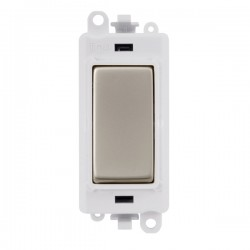 Click GridPro Pearl Nickel 20AX 1 Way Switch Module with White Insert