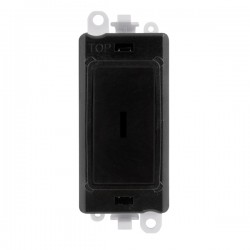 Click GridPro Black 20AX 2 Way Keyswitch Module with Black Insert