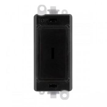 Click GridPro Black 20AX 2 Way Keyswitch Module with Black Insert
