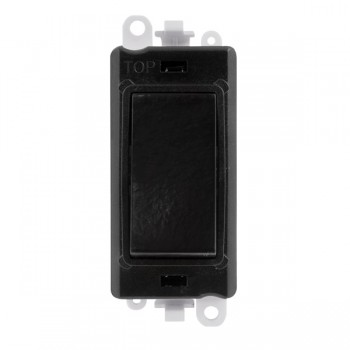 Click GridPro Black 20AX 2 Way Retractive Switch Module with Black Insert