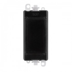 Click GridPro Black Blank Module with Black Insert