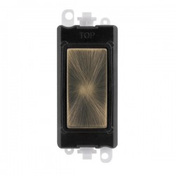 Click GridPro Antique Brass Blank Module with Black Insert