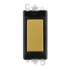 Click GridPro Polished Brass Blank Module with Black Insert
