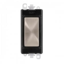Click GridPro Brushed Stainless Blank Module with Black Insert