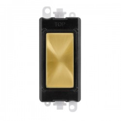 Click GridPro Satin Brass Blank Module with Black Insert