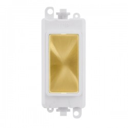 Click GridPro Satin Brass Blank Module with White Insert