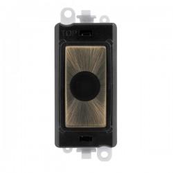 Click GridPro Antique Brass 20A Flex Outlet Module with Black Insert