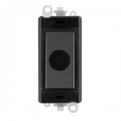 Click GridPro Neon and Black Nickel 20A Flex Outlet Module with Black Insert