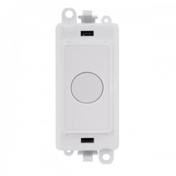 Click GridPro Polar White 20A Flex Outlet Module with White Insert