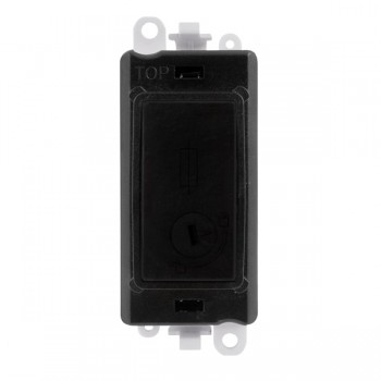 Click GridPro Black 13A Fused (Lockable) Module with Black Insert