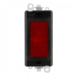 Click GridPro 240V Red Indicator Module with Black Insert