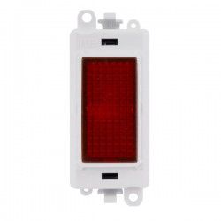Click GridPro 240V Red Indicator Module with White Insert