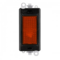 Click GridPro 240V Amber Indicator Module with Black Insert