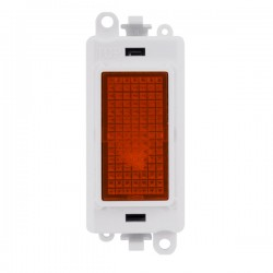 Click GridPro 240V Amber Indicator Module with White Insert